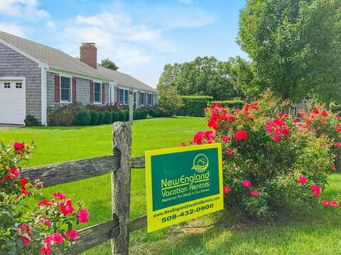 Lush lawn and flowers at 40 Tip Cart Chatham Cape Cod - New England Vacation Rentals