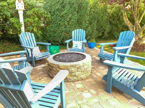 Fire Pit with Adirondack Chairs - 40 Tip Cart Chatham Cape Cod - New England Vacation Rentals