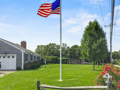 The red, white and blue 40 Tip Cart Chatham Cape Cod - New England Vacation Rentals