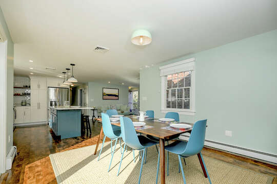 Modern dining room at 40 Tip Cart Chatham Cape Cod - New England Vacation Rentals