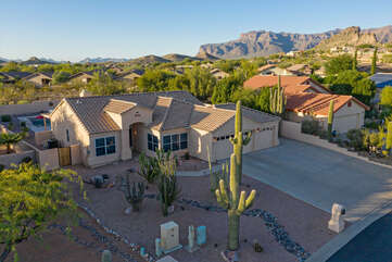 Our premium home in a most desirable location has a view of the iconic Superstition Mountains.