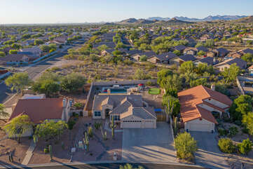 The birds eye view of our home, neighborhood and beyond is impressive.