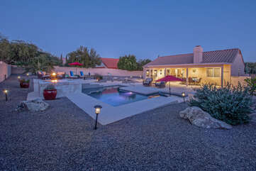 Resort style amenities in the backyard means there's something for everyone.