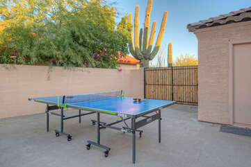 A ping pong table has been added for friendly fun and competition plus there are 2 bikes for touring the area.