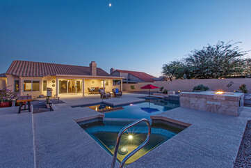 You will be impressed with the exquisite private pool and spa at GOLD CANYON MEMORIES!