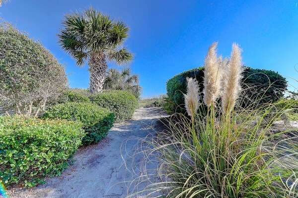 Beach path is located just across the street. VERY short walk!