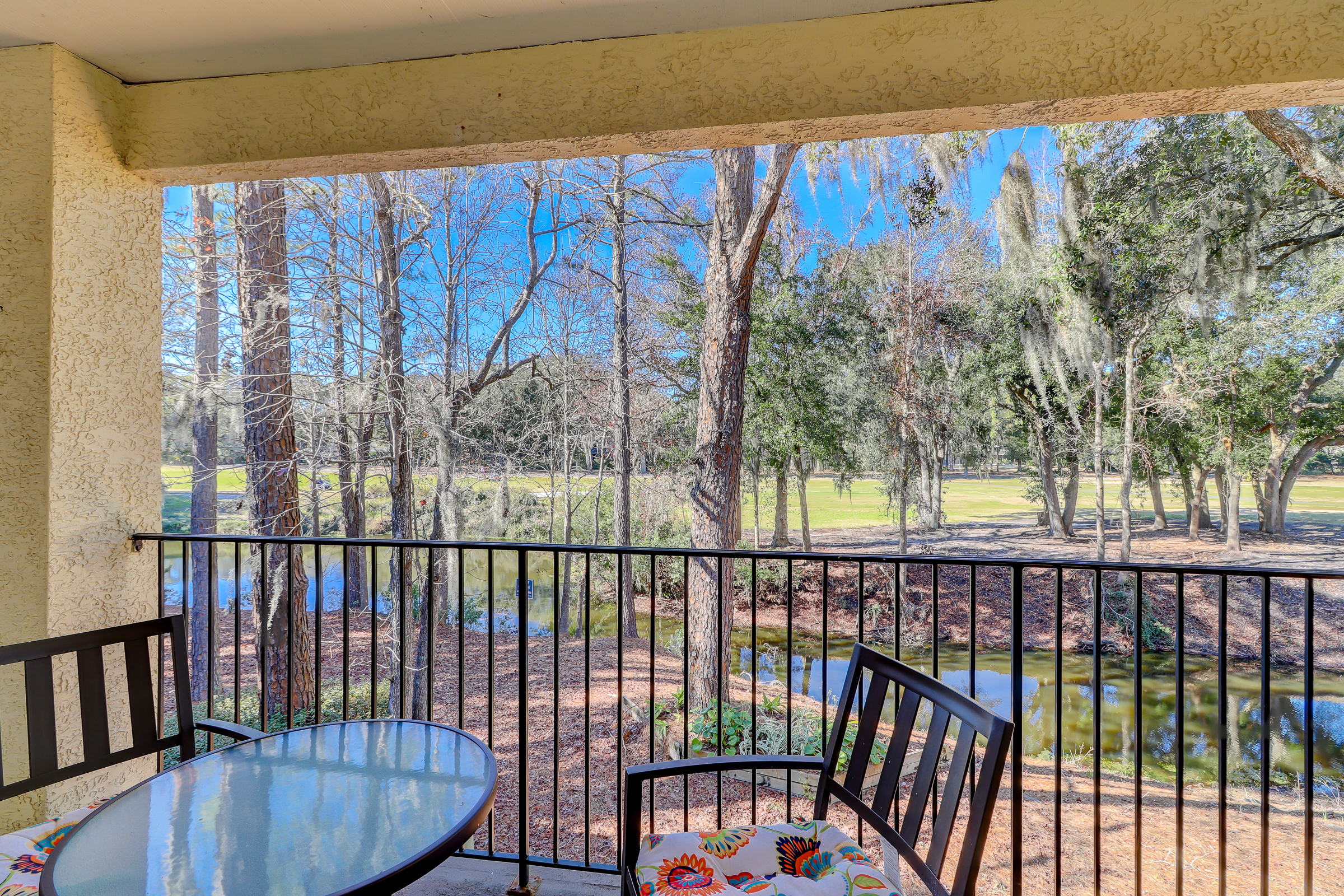 Enjoy the beautiful lowcountry scenery from the covered balcony
