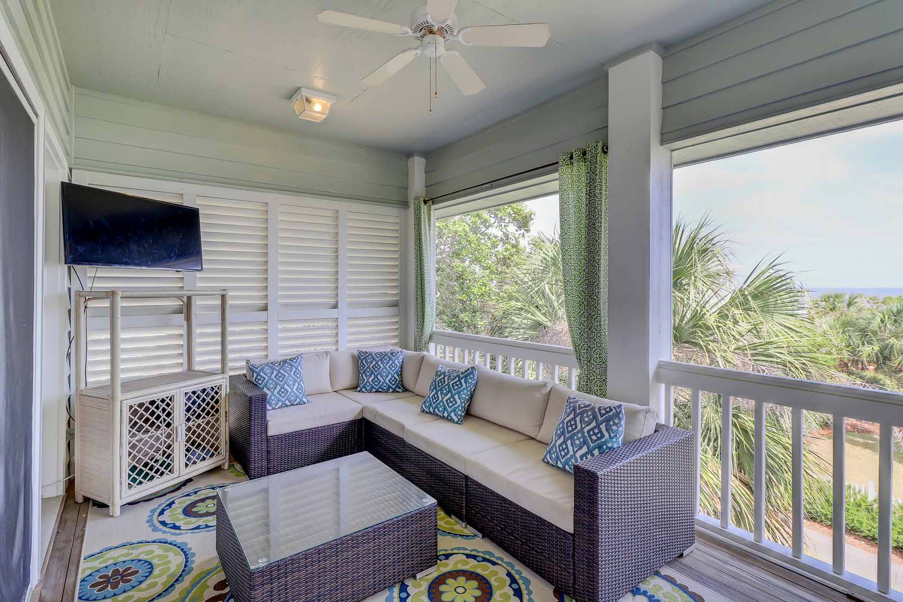 Can you just picture yourself here? Enjoy the salt air and sea breeze from this amazing upper level balcony with ocean view!