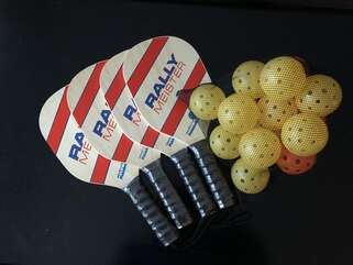 Feel free to use our pickle ball equipment