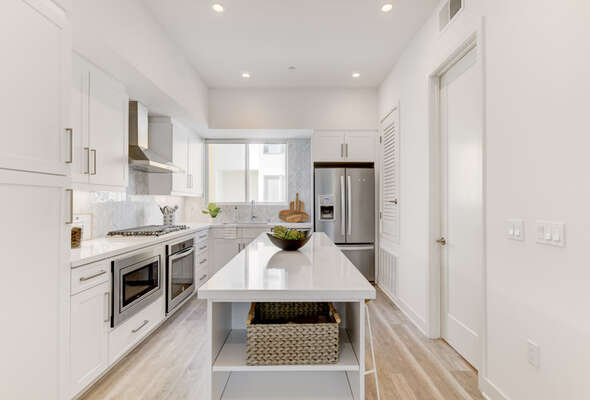 State-of-the-Art Kitchen with Dishwasher in our San Diego Townhouse Rental