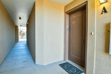 Entrance of our Moab vacation rental