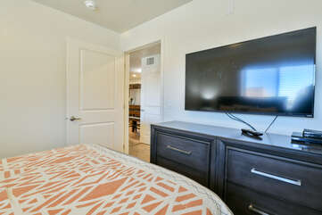 Third bedroom with a TV