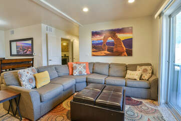 Living room with a sectional couch