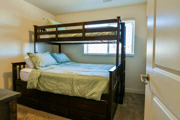 Second bedroom with a bunk bed