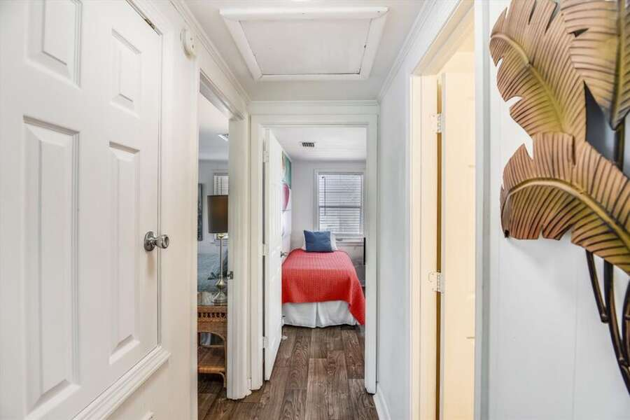 Hall down to the Bedrooms and Bathroom