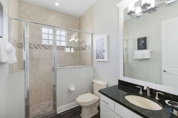 Ground floor bathroom with a walk-in shower