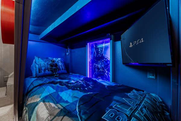 Each bed has a unique theme