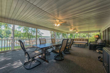 Plenty of entertaining space in the large screened porch.