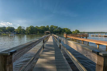 Dock walk way - perfect for the kiddos to catch a fish!
