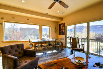 Dining and Living Area with Stunning Views of Surroundings