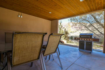 Patio- Outdoor Dining Area and Grill