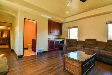 Theater Room and Bathroom