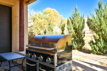 Private Grill and Covered Patio