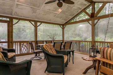 Covered, Screened Porch
