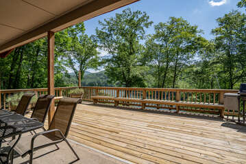 Outside Deck overlooking Lake Glenville