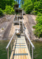 Stairs to the Private Dock