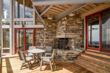 Deck with Wood Burning Fireplace