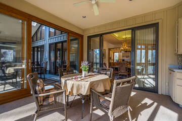 Sun Room off the Dining Table