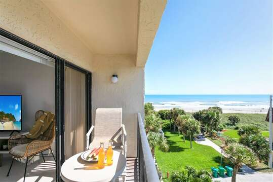 Hear the waves from your private balcony