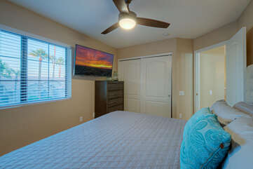 All bedrooms are appealing because ALL bedrooms have TVs and ceiling fans.