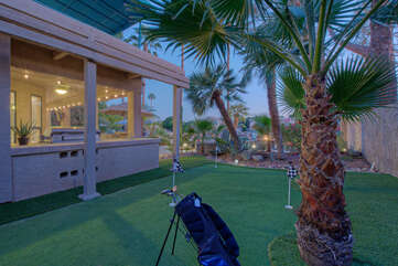A brand new putting green has been added so our golfers can warm up their shots before heading to nearby courses.
