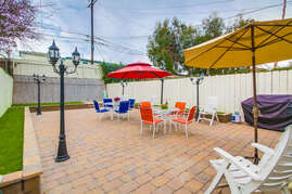 Large patio with BBQ