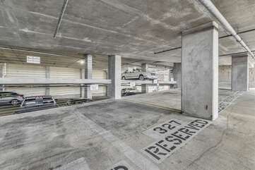 Reserved parking space on the 3rd floor.