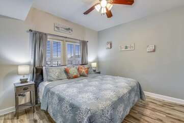 Master bedroom with cozy king size bed