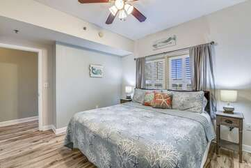 Master bedroom with king size ed