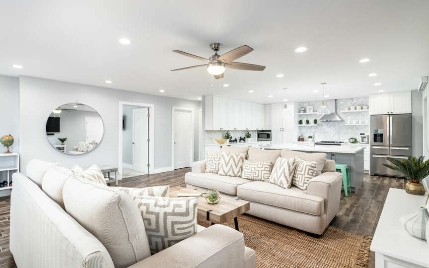 Large, open living area.