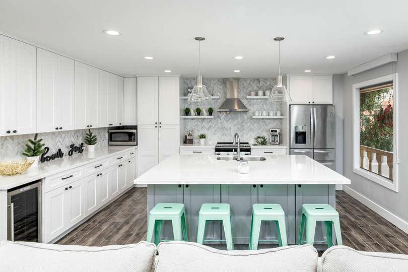 Beautiful, modern kitchen.