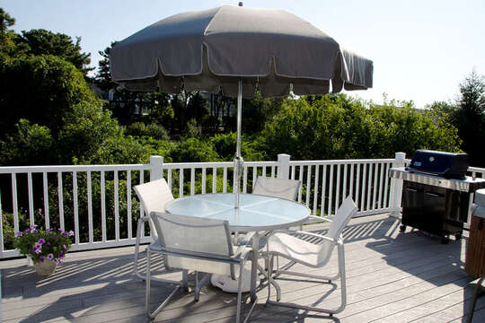 Outdoor furniture and gas grill. 67 The Cornfield Chatham Cape Cod - New England Vacation Rentals