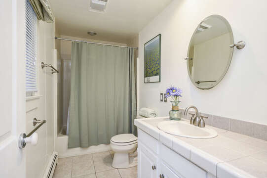Full bath on 1st floor with tub and shower-67 The Cornfield Chatham Cape Cod - New England Vacation Rentals