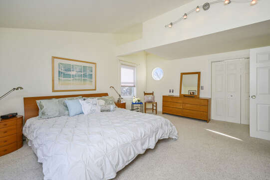 2nd floor master bedroom with king bed-67 The Cornfield Chatham Cape Cod - New England Vacation Rentals