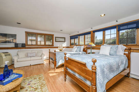 2 Twin beds on lower level- 67 The Cornfield Chatham Cape Cod - New England Vacation Rentals