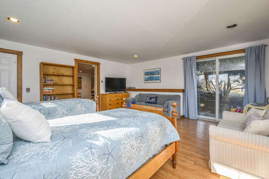With Flat Screen TV and seating area-67 The Cornfield Chatham Cape Cod - New England Vacation Rentals