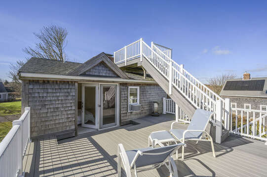 Deck off of Master bedroom with access to roof top deck! 67 The Cornfield Chatham Cape Cod - New England Vacation Rentals