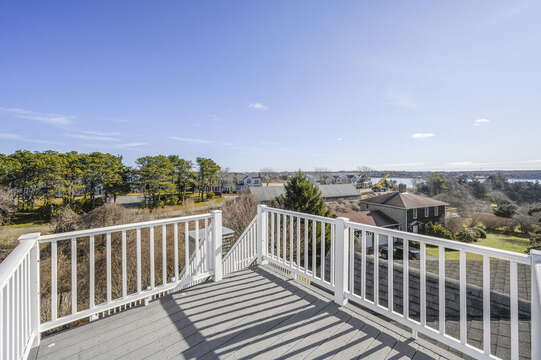 Water views from the roof top deck - The Lookout!! 67 The Cornfield Chatham Cape Cod - New England Vacation Rentals