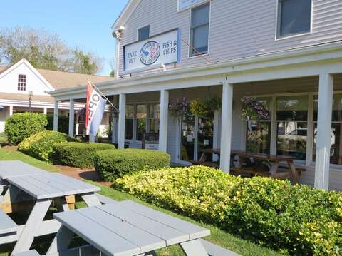 Eat in or take out - either way get your seafood just a few hundred yards from the house!! Chatham Cape Cod - New England Vacation Rentals