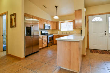 Fully-equipped kitchen with plenty of space
